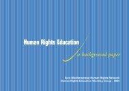 Background Paper-general framework - Euromedrights