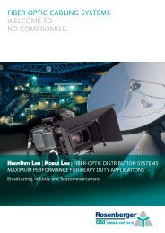 fiber-optic cabling systems welcome to no ... - Rosenberger OSI
