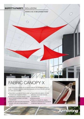 Scarica la scheda tecnica Fabric Canopy X - Armstrong