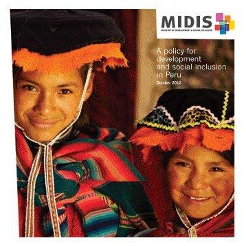 A policy for development and social inclusion in Peru - Ministerio de ...