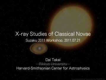 X-ray Studies of Classical Novae - HEASARC - NASA