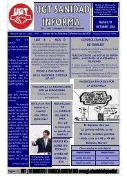 Boletin Nº 18 Octubre - Sanidad en UGTCantabria