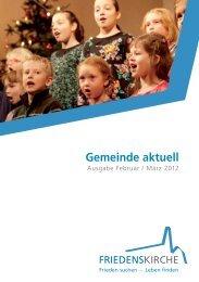 Gemeinde aktuell downloaden - Friedenskirche in Singen