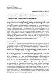 Kulturelle Orientierungen - Lehrstuhl für Pädagogik - Technische ...