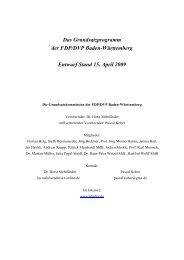 Grundsatzprogramm der FDP Baden-Württemberg