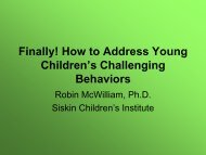 Preventing and Addressing Challenging Behaviors - Siskin ...