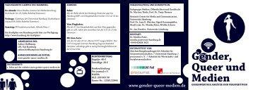 gender, Queer und medien - GfM