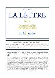 La lettre de février 2008 - Cités Unies France