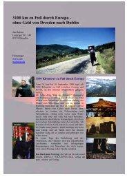 3100 km zu Fuß durch Europa - ohne Geld von ... - Balster, Jan