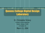 New Digital Design Laboratory - Dr. Vickery's Home Page. - CUNY