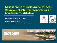 Assessment of Relevance of Peer Reviews of Clinical Reports ... - MIR