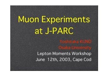 Muon Experiments at J-PARC - G-2 group