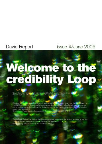 Welcome to the - David Report