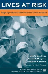 the politics and economics of health care systems - National Center ...