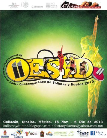 Convocatoria ESYD 2013 - Coordinacion Nacional de Danza ...