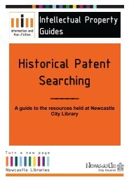 Historical Patent Searching - Newcastle City Council