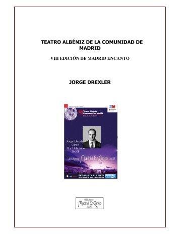 teatro albéniz de la comunidad de madrid jorge drexler - Angel Galán