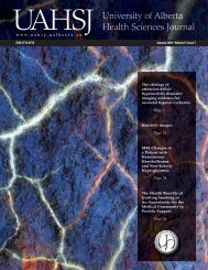 Complete Issue PDF - University of Alberta Health Sciences Journal