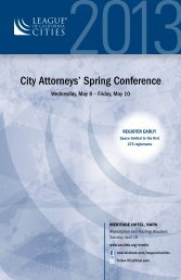 City Attorneys' Spring Conference - League of California Cities