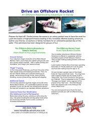 Offshore Rockets Brochure - Incredible Adventures