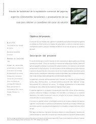 Objetivos del proyecto Descripción del proyecto Estudio de ... - Fia