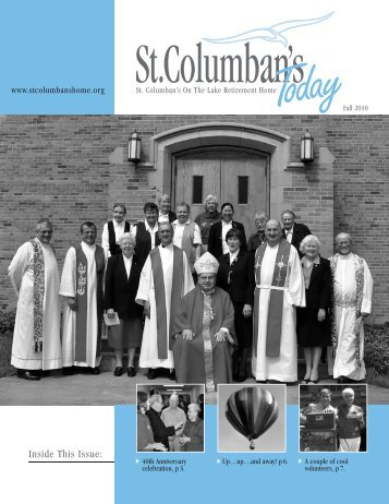 SC Newsletter-Fall 2010 - St. Columban's on the Lake Retirement ...