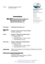 Ausschreibung Bezirksmeisterschaften im Rettungsschwimmen ...