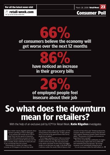 Retail Week Consumer Confidence – March 2008 - ICM Research