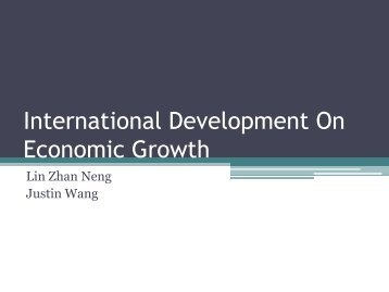 International Development On Economic Growth
