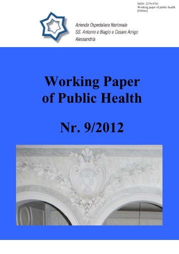 Working Paper of Public Health Nr. 9/2012 - Azienda Ospedaliera ...