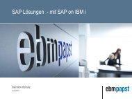 SAP Lösungen - mit SAP on IBM i - BLUE CONSULT GmbH