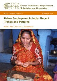 Urban Employment in India: Recent Trends and Patterns - WIEGO