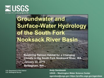 Groundwater and surface-water hydrology of the ... - Washington
