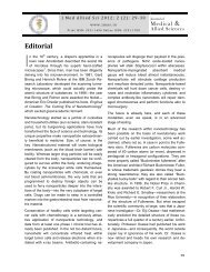 Editorial - Journal of Medical and Allied Sciences