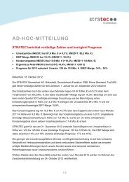 AD-HOC-MITTEILUNG - STRATEC Biomedical AG