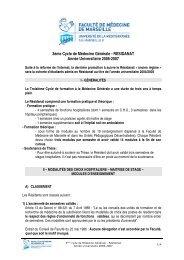 Résidanat de Médecine Générale - Timone.univ-mrs.fr