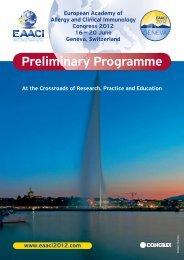 Preliminary Programme - EAACI