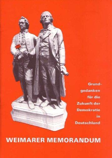 I/P/T-Weimarer Memorandum - Die Zukunft der ... - sozialimpuls.info