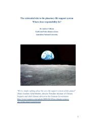 The Existential Risk To The Planetary Life Support System Where ...