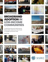 BROADBAND ADOPTION IN LOW-INCOME COMMUNITIES - Main Street Project
