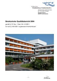 Qualitätsbericht 2004 - Klinikum Friedrichshafen GmbH