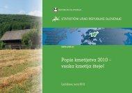 Popis kmetijstva 2010 - vsaka kmetija šteje! - Statistični urad ...