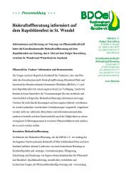 Biokraftoffberatung informiert auf dem Rapsblütenfest in St ... - BDOel