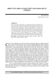 2000'li yıllarda çevre etiği yaklaşımları ve türkiye - Yönetim Bilimleri ...