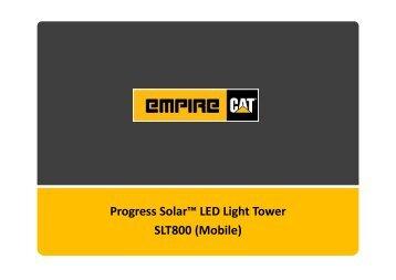 Progress Solar™ LED Light Tower SLT800 (Mobile)