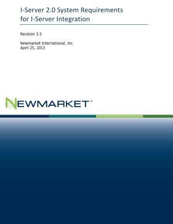 Delphi 2013 I-Server System Requirements - Newmarket ...