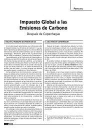 Impuesto Global a las Emisiones de Carbono - AELE