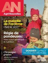 Visualiser la revue Agri-Nouvelles en format PDF - Agri-Marché