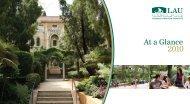 At a Glance - LAU Publications - Lebanese American University