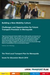 Challenges & Opportunities - the TravelWise Merseyside website